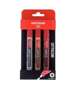 Amsterdam akryylitussit 4mm metallisävyt 1