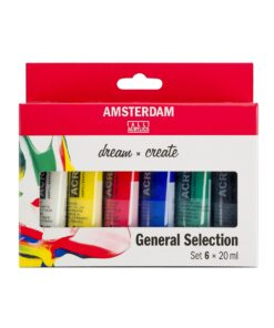 Amsterdam akryylivärilajitelma General Selection 6x20ml 1
